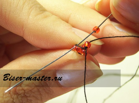 Учимся плести жгут кирпичным плетением (по спирали)