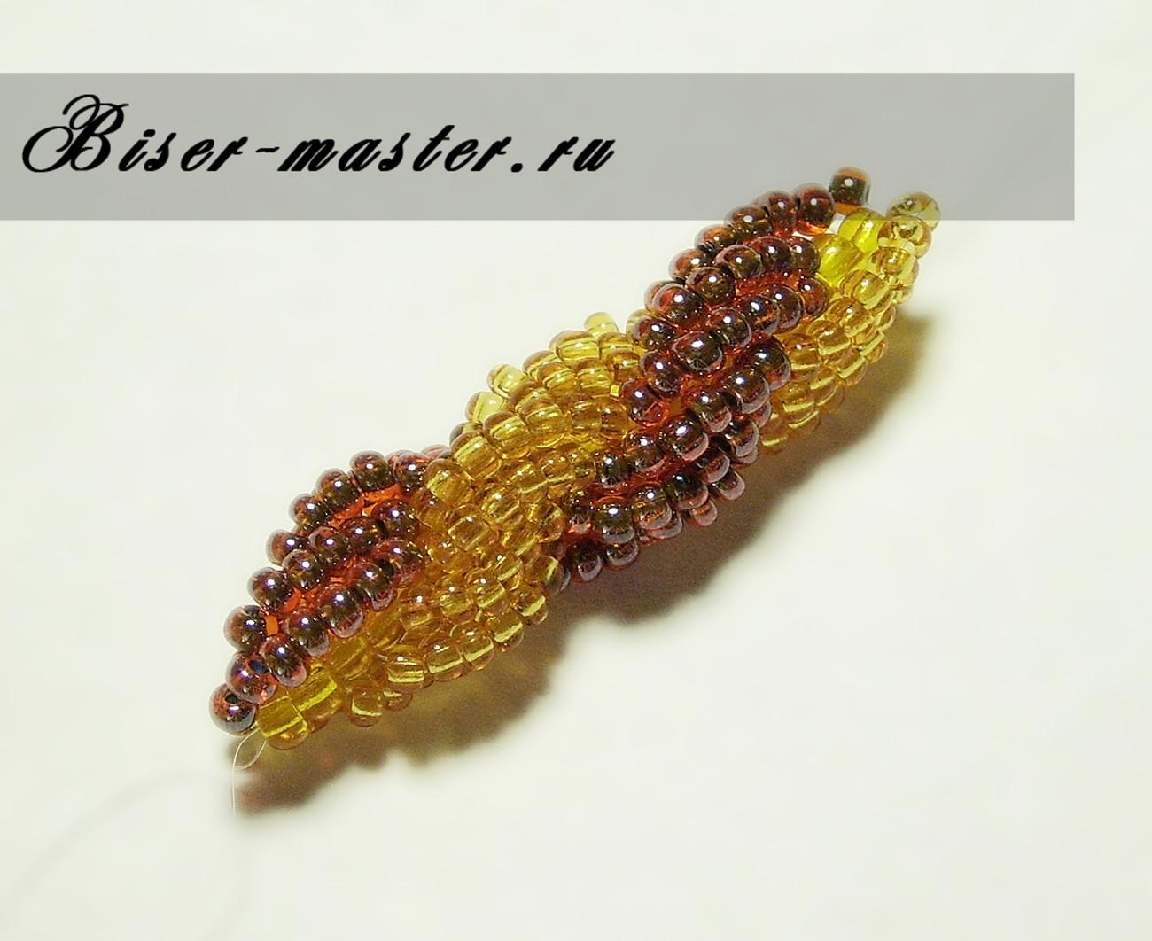 жгут из бисера кирпичное плетение схема