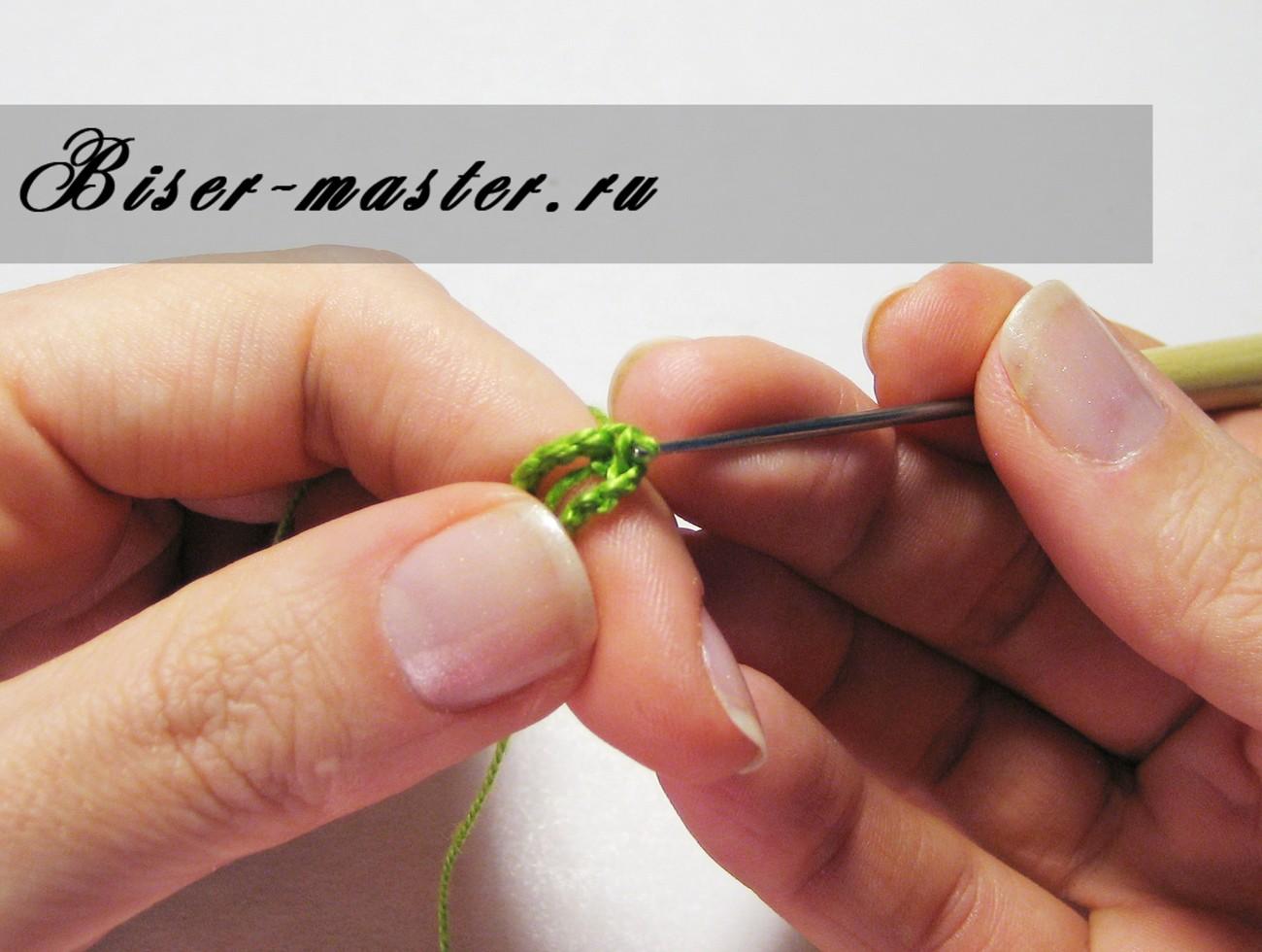 Как вязать крючком для начинающих столбик