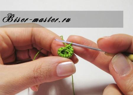 Учимся вязать бисерные жгуты столбиком (русский способ)