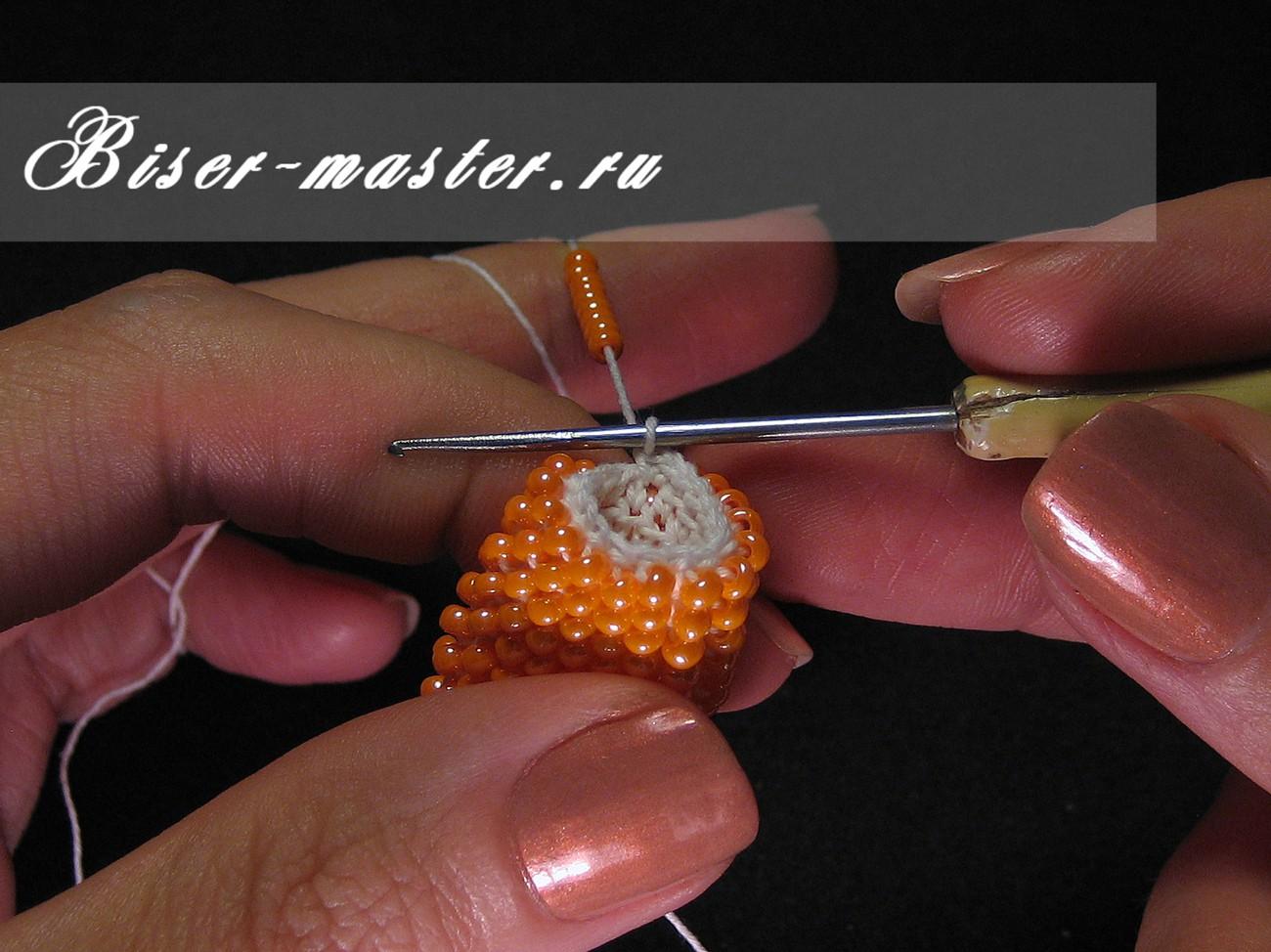 Как начать вязать бисерный жгут «с нуля» Ярмарка Мастеров 61
