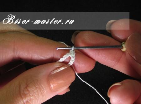 Учимся вязать бисерные жгуты столбиком с петлей подъема (русский способ)