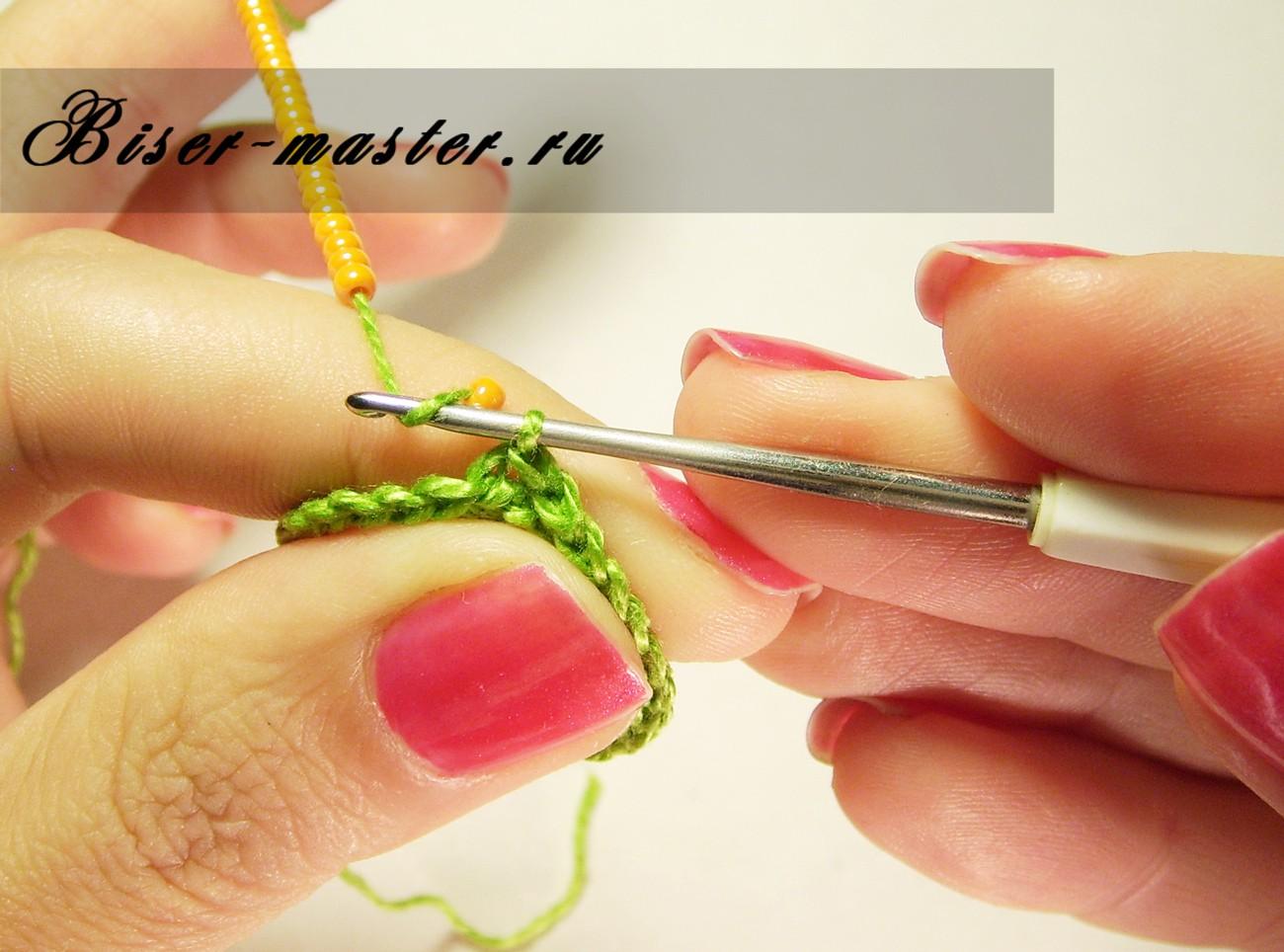 Вязание крючком с бисером: мастер-класс для начинающих