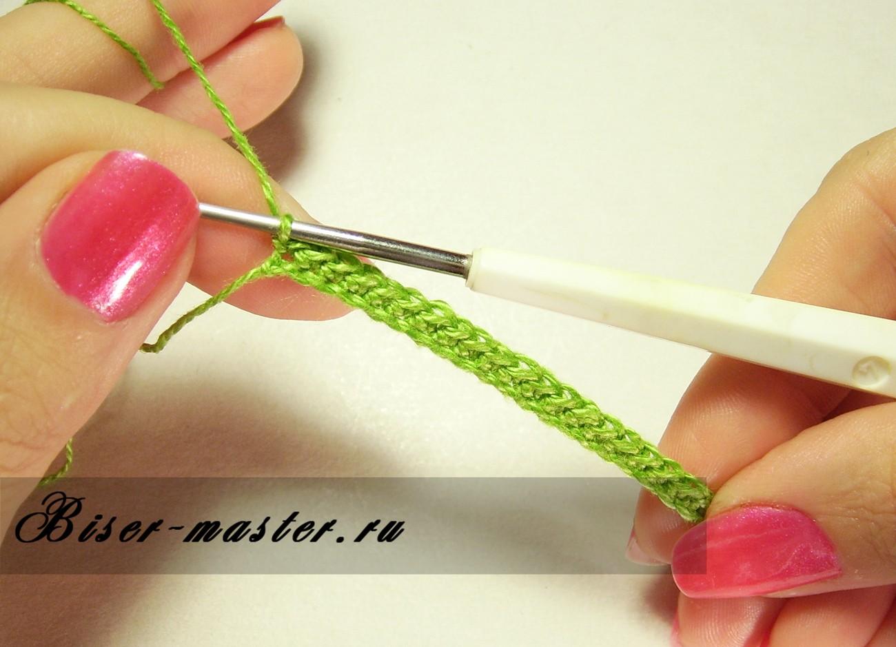 Вязание крючком английский способ