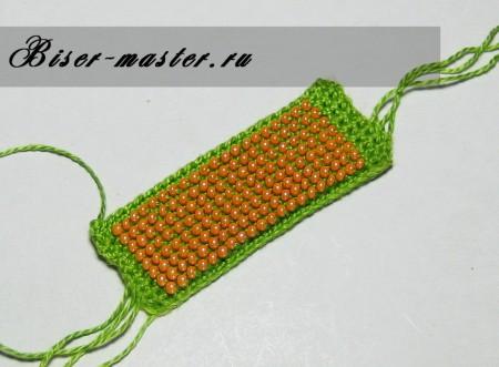 Вязание плоского полотна из бисера крючком