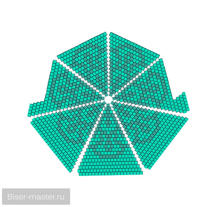 Вязание с бисером сумочки по кругу